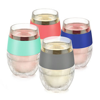 FREEZE Assorted Cooling Wine Glasses, Set of Four