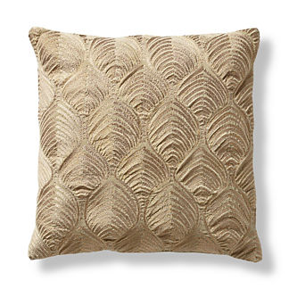 Matea Metallic Leaves Decorative Pillow