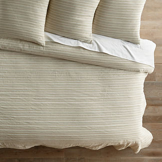 Halsey Lurex Stripe Duvet Cover