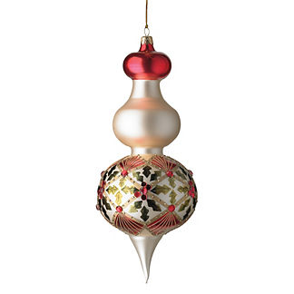 Holly Diamond Finial Ornament by Katherine's Collection, Bottom