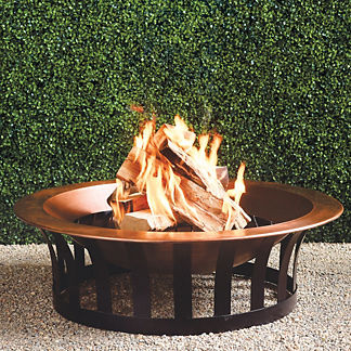 Copper Fire Pit with Solid Steel Base