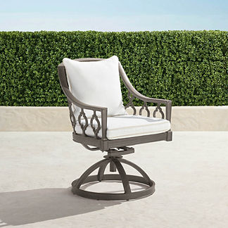 Avery Swivel Dining Chair with Cushion in Slate Finish