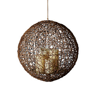 Bodhi Wicker Hanging Hurricane by Martyn Lawrence Bullard
