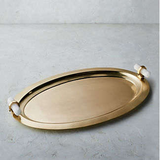 Cadiz Quartz Oval Serving Tray