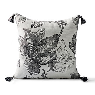 Amrita Blossom Onyx Square Pillow