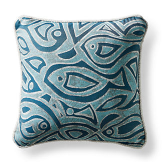 Batik Tides Aruba Square Pillow