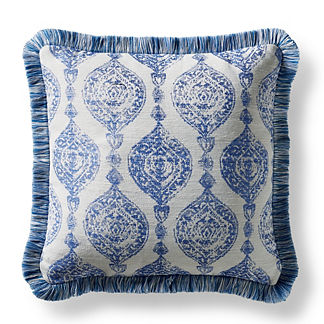 Cadiz Imprint Cobalt Square Pillow