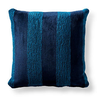 Caicos Stripe Peacock Square Pillow
