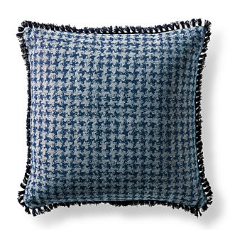 Checkered Aura Indigo Indoor/Outdoor Pillow