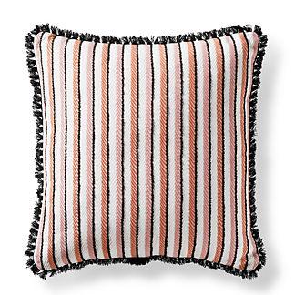 Crescent Stripe Peony Square Pillow