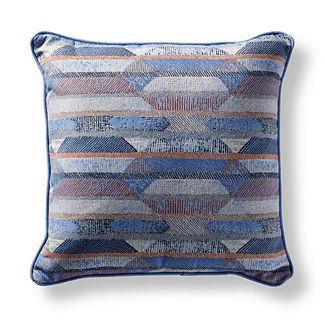 Etched Geo Capri Square Pillow