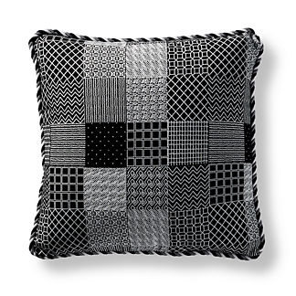 Graphic Patch Onyx Square Pillow