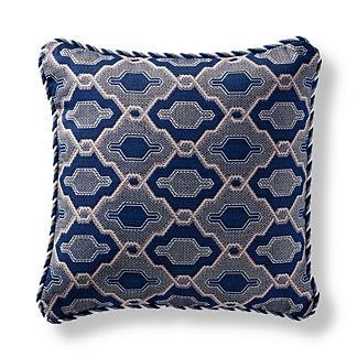 Hano Fret Indigo Indoor/Outdoor Pillow
