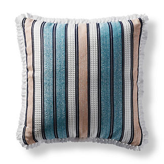 Honeycomb Way Peacock Square Pillow