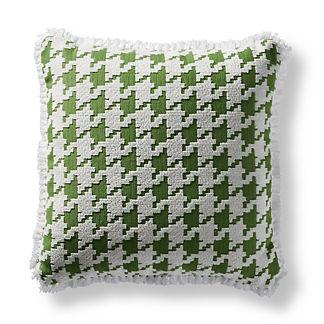 Houndstooth Fun Gingko Square Pillow