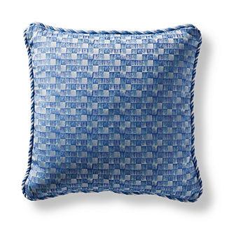 Ikat Tile Air Blue Square Pillow