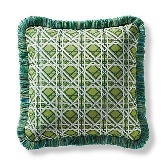 Roma Trellis Gingko Square Pillow