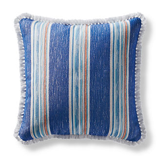 Sunja Stripe Cobalt Square Pillow