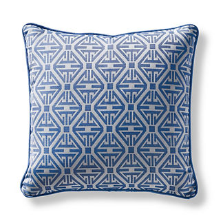 Sync Up Cobalt Square Pillow