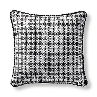 Vero Check Onyx Square Pillow