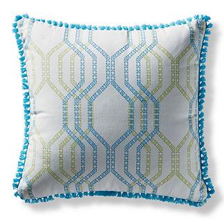 Linear Links Aruba Square Pillow