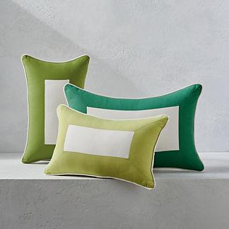 Colorblock Outdoor Lumbar Pillow