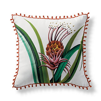 Handpainted L'ananas Pingouin Outdoor Pillow from the New York Botanical Garden Archives