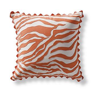 Regal Zebra Peony Outdoor Pillow