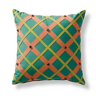 Regency Lattice Outdoor Pillow
