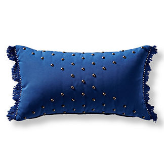 Nailhead Prism Outdoor Pillow