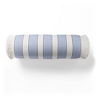 Crew Stripe Fringed Bolster Indoor/Outdoor Pillow