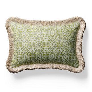 Batista Chenille Fringed Lumbar Indoor/Outdoor Pillow