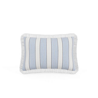 Crew Stripe Fringed Lumbar Indoor/Outdoor Pillow