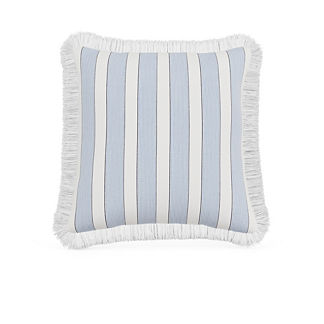 Crew Stripe Fringed Indoor/Outdoor Pillow