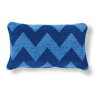 Harper Chevron Cobalt Outdoor Pillow
