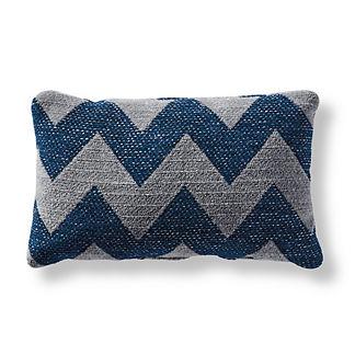 Harper Chevron Indigo Outdoor Pillow