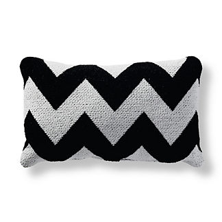 Harper Chevron Onyx Lumbar Outdoor Pillow