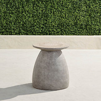 Paire Accent Stool in Gray with Natural Top