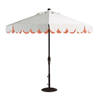 Seaside Scallop Guava Designer Umbrella