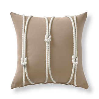 Yacht Knots Sand Square Outdoor Pillow