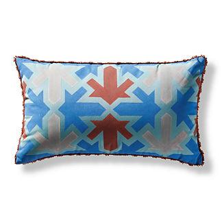 Moroccan Imprint Outdoor Lumbar Pillow