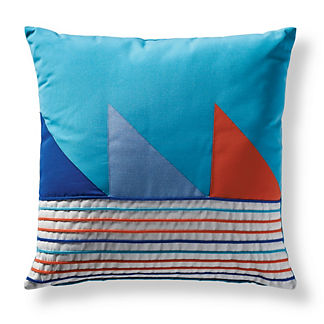 Graphic Sails Square Outdoor Pillow