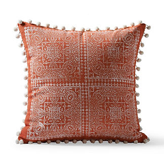 Moroccan Block Print Outdoor Pillow