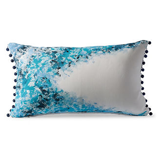 Grotto Splatter Peacock Outdoor Pillow