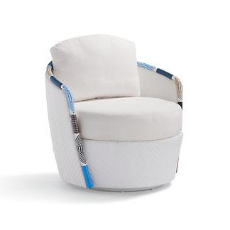 Lyra Swivel Lounge Chair with Cushions