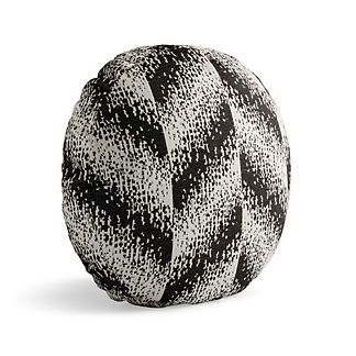 Chevron Pixel Onyx Tambourine Outdoor Pillow