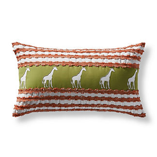 Marching Giraffes Outdoor Lumbar Pillow
