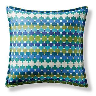 Color Remix Cobalt Flanged Outdoor Pillow