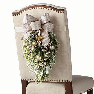 Gilded Elegance Chair Back Swags, Set of Two