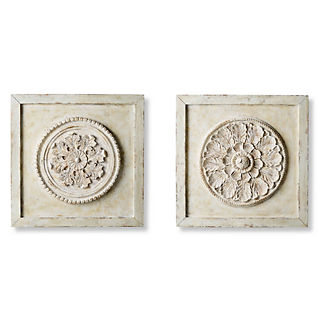 Olivia Wall Medallions, Set of Two